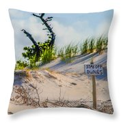 Stay Off Dunes Throw Pillow