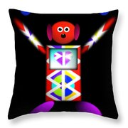 Stay Tooned Throw Pillow