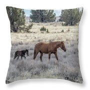 Staying Close To Mama Throw Pillow