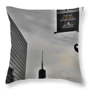 Staying Downtown Throw Pillow