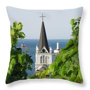 Ste. Anne's Steeple Throw Pillow