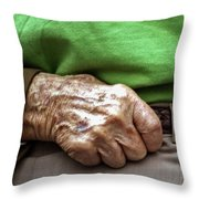 Steadying Hand Throw Pillow