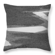 Stealing Home Throw Pillow
