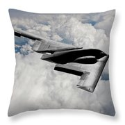 Stealth Bomber Over The Clouds Throw Pillow