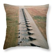 Stealth Fighters 37 Tactical Fighter Wing Throw Pillow