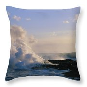 Steam Cloud And Lava Throw Pillow