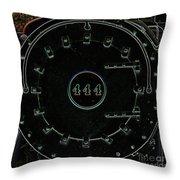 Steam Engine 444 Throw Pillow