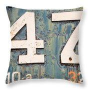 Steam Engine 47 Throw Pillow