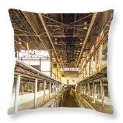 Steam Engine Repair Shop Color Throw Pillow