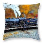 Steam Engine Tilt Shift Throw Pillow
