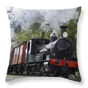 Steam Locomotive 3298 In Cornwall Throw Pillow