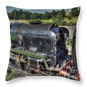Steam Locomotive 34027 The Taw Valley Throw Pillow