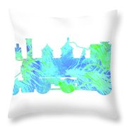Steam Locomotive Art 3 Throw Pillow
