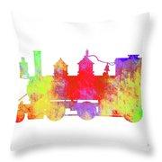 Steam Locomotive Art Throw Pillow
