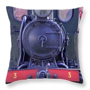Steam Locomotive Train Throw Pillow
