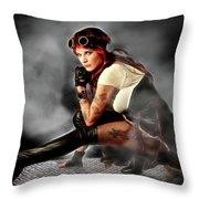 Steam Mistress Throw Pillow