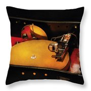 Steam Punk - Hey Dj Make Some Noise Cine-music System Throw Pillow by Mike Savad