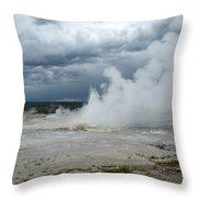 Steam Rising Throw Pillow