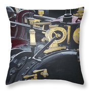 Steam Tractor Throw Pillow by Richard Le Page