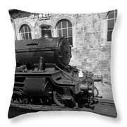 Steam Train In Station Throw Pillow