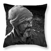 Steam Train Wizard Throw Pillow