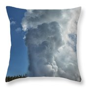 Steamboat Geyser Throw Pillow by Greg Norrell