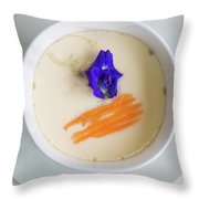 Steamed Egg Throw Pillow
