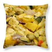 Steamed Vegetables Throw Pillow
