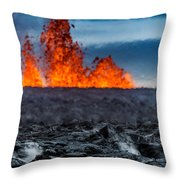 Steaming Lava And Plumes Throw Pillow