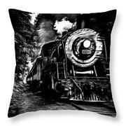 Steaming Through The Pass Throw Pillow