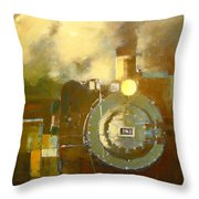 Steaming Up Mining Country Throw Pillow