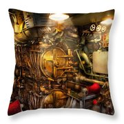Steampunk - Naval - The Torpedo Room Throw Pillow