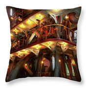 Steampunk - Allis Does All The Work Throw Pillow