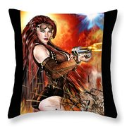 Steampunk Apocalypse Throw Pillow
