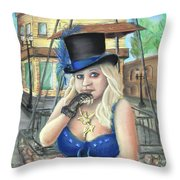 Steampunk Becky Throw Pillow