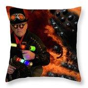 Steampunk Bob 12 Throw Pillow