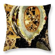 Steampunk Christmas Throw Pillow
