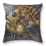 Steampunk Fish A Throw Pillow