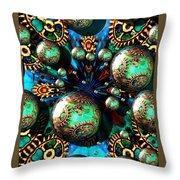 Steampunk Fractal 71216.4 Throw Pillow