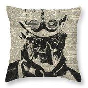 Steampunk Guy Throw Pillow