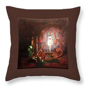 Steampunk Laboratory Throw Pillow