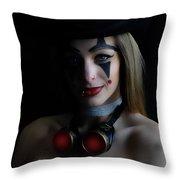 Steampunk Melissa Throw Pillow
