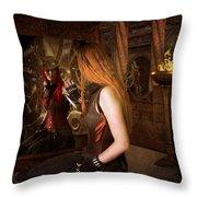 Steampunk Mirror Throw Pillow