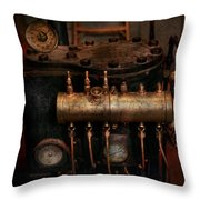 Steampunk - Plumbing - The Valve Matrix Throw Pillow
