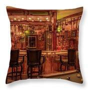 Steampunk Speakeasy Mancave Bar Art Throw Pillow