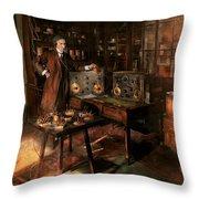 Steampunk - The Time Traveler 1920 Throw Pillow