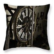 Steampunk - Timekeeper Throw Pillow