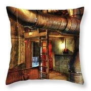 Steampunk - Where The Pipes Go Throw Pillow