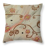 Steampunked Columbine Throw Pillow