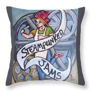 Steampunked Jams Throw Pillow